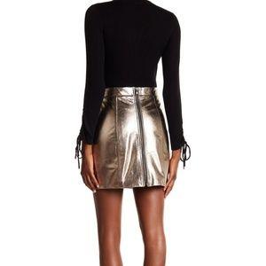 Veronica Beard Skyler leather pencil skirt size 10